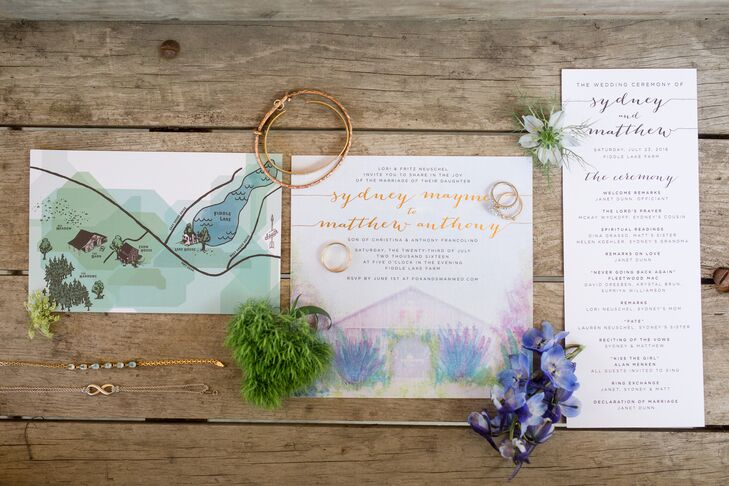 Pastel Watercolor Wedding Invitations