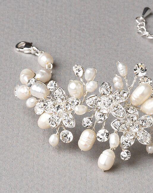 USABride Pretty Floral & Freshwater Pearl Bracelet (JB-4819) Wedding Bracelets photo