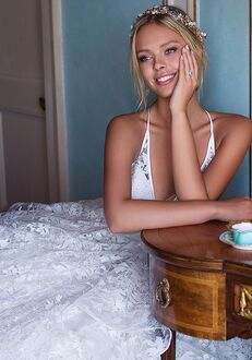 Moonlight Couture H1373 A-Line Wedding Dress