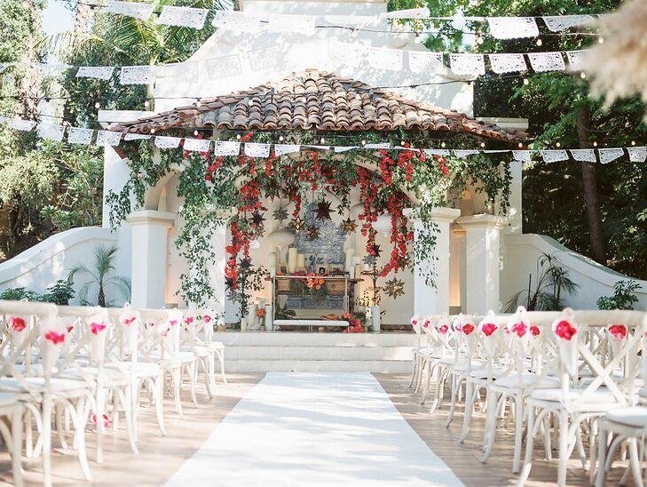 Spanish-Style Ceremony Space at Rancho Las Lomas in Silverado, California