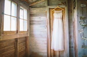 Silk, Sheath Saja Wedding Dress with Sheer Organza Overlay
