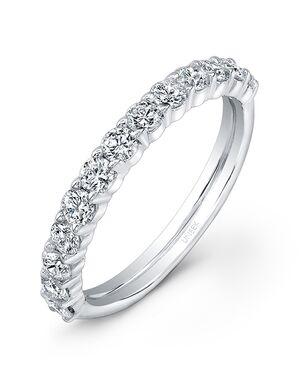 Uneek Fine Jewelry UWB09 White Gold Wedding Ring