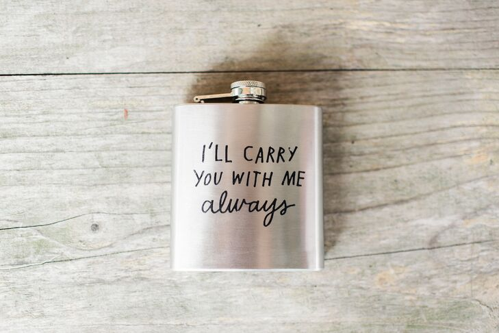 I'll Carry You With Me Always Silver Flask