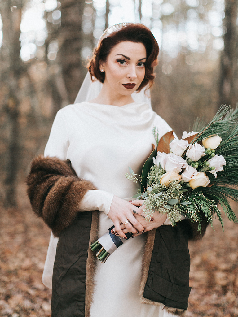 Winter Wraps for Brides and Bridesmaids