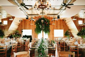 Romantic Tented Reception With Hanging Florals