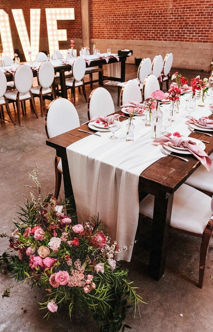 Glam Reception Tables at Sandbox in San Diego, California