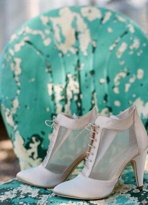 Satin Lace-up Bridal Shoes