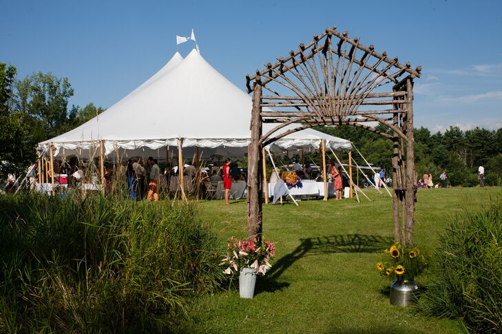 The reception was held under a large white tent at the Catamount Outdoor Center in Williston, Vermont, a place Amy frequented as a child.