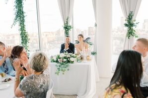 Modern Sweetheart Table with Greenery at The Standard East Village in New York City