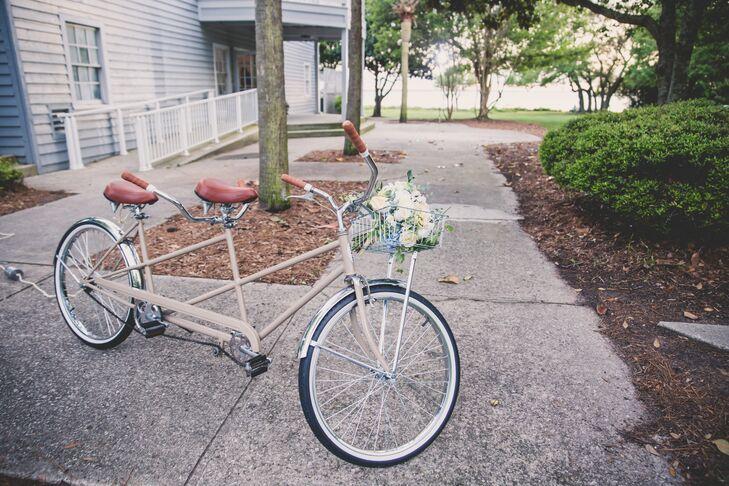 Tandem Bike Wedding Exit