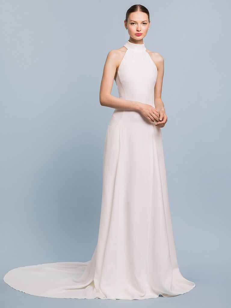 EDEM Demi Couture A-line dress with high collar