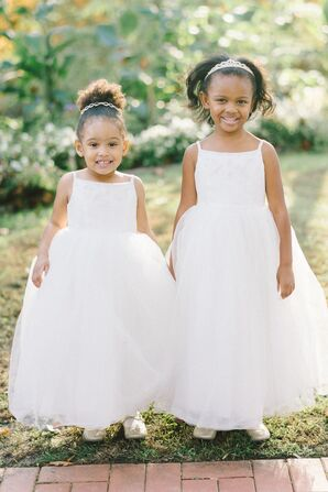 Whimsical Full-Skirted Tulle Flower Girl Dresses
