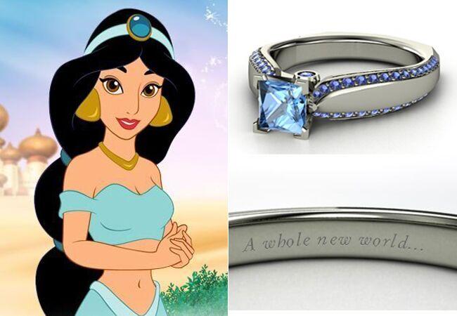 Ring: Gemvara Disney Ring // Feature: TheKnot.com