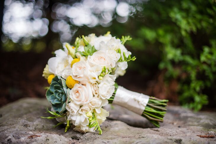 Rose, Succulent and Brunia Bouquet
