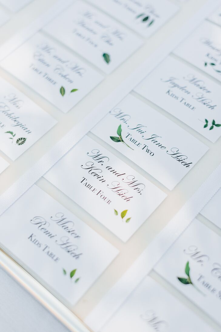 Elegant Garden-Inspired Escort Cards