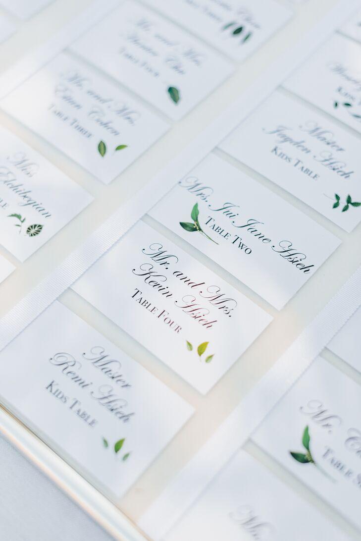 Elegant Garden-Inspired Escort Cards