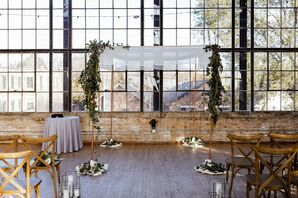 Modern Chuppah at Ravenswood Event Center in Chicago, Illinois