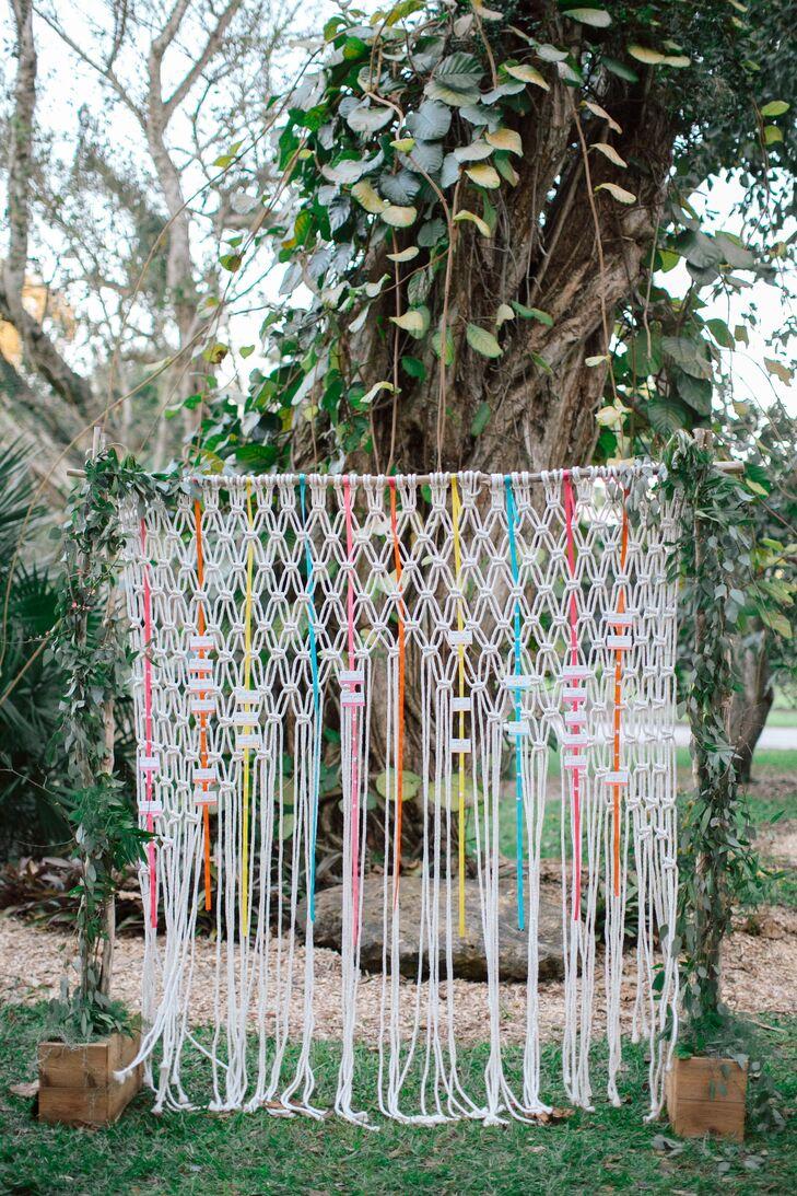 Colorful Ribbon and Macrame Backdrop