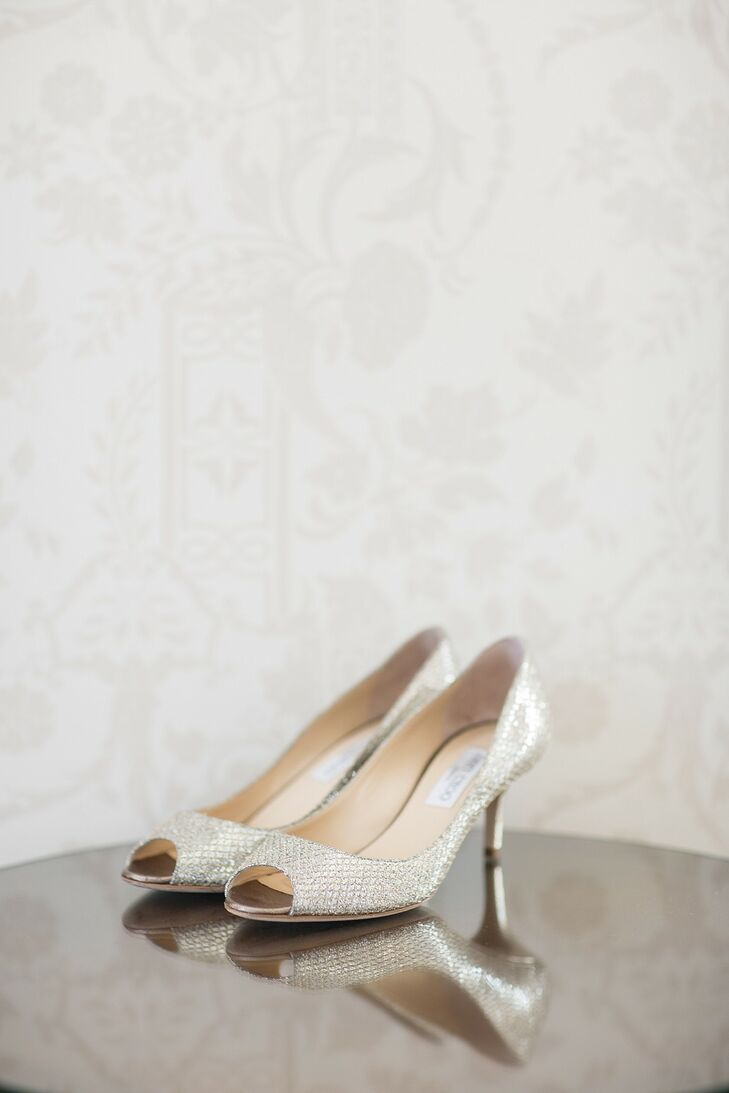 Ivory Open-Toed Heeled Shoes
