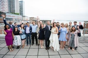 Wedding Guests on a Rooftop in New York City