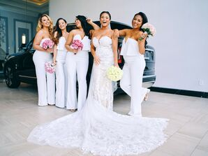 Bridesmaids at Post Oak Hotel at Uptown in Houston, Texas
