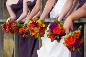 Colorful Bouquets with Dahlias and Calla Lilies