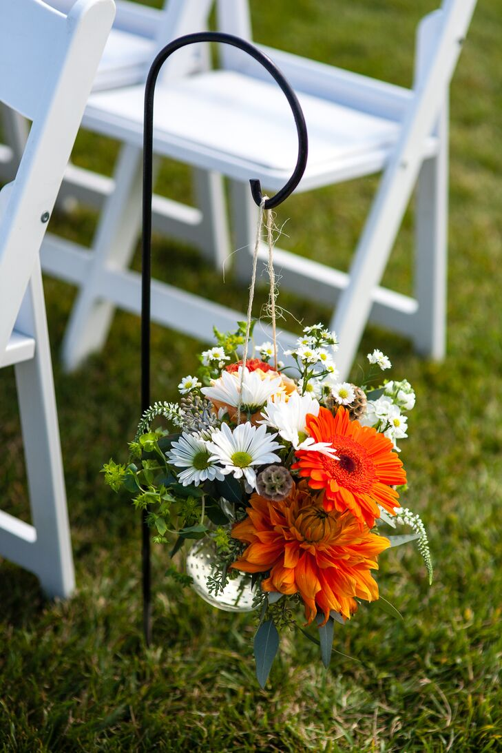 Hanging Floral Aisle Decoration