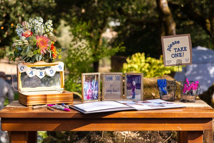 Gift Table and Guest Book Display
