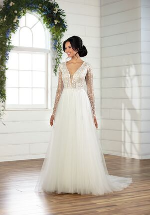 Essense of Australia D2861 A-Line Wedding Dress