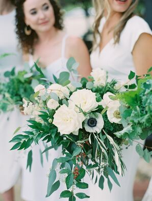 Bouquets with Roses, Anemones and Greenery