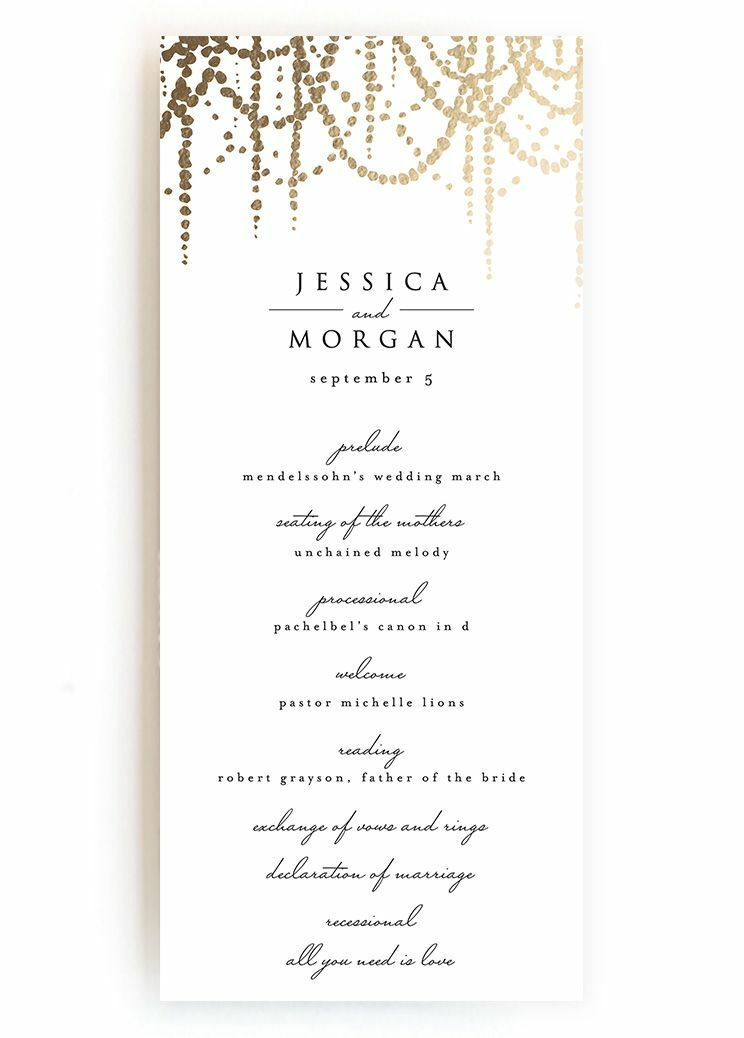 Creative Wedding Ceremony Program DIY Templates - Easy wedding program template