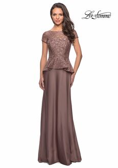 La Femme Evening 25887 Brown Mother Of The Bride Dress