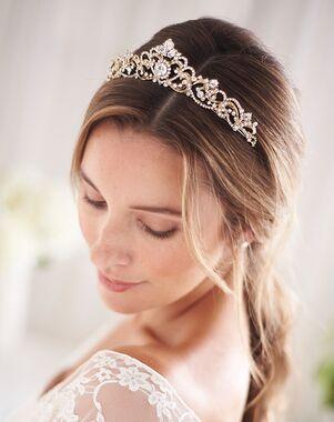 Dareth Colburn Elizabeth Rhinestone Crown (TI-3157) Gold Tiara