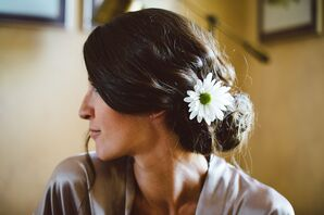 White Daisy Hair Accessories