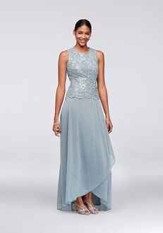 David's Bridal Mother of the Bride 1121654 Blue Mother Of The Bride Dress