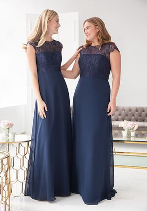 Hayley Paige Occasions 5917 Illusion Bridesmaid Dress