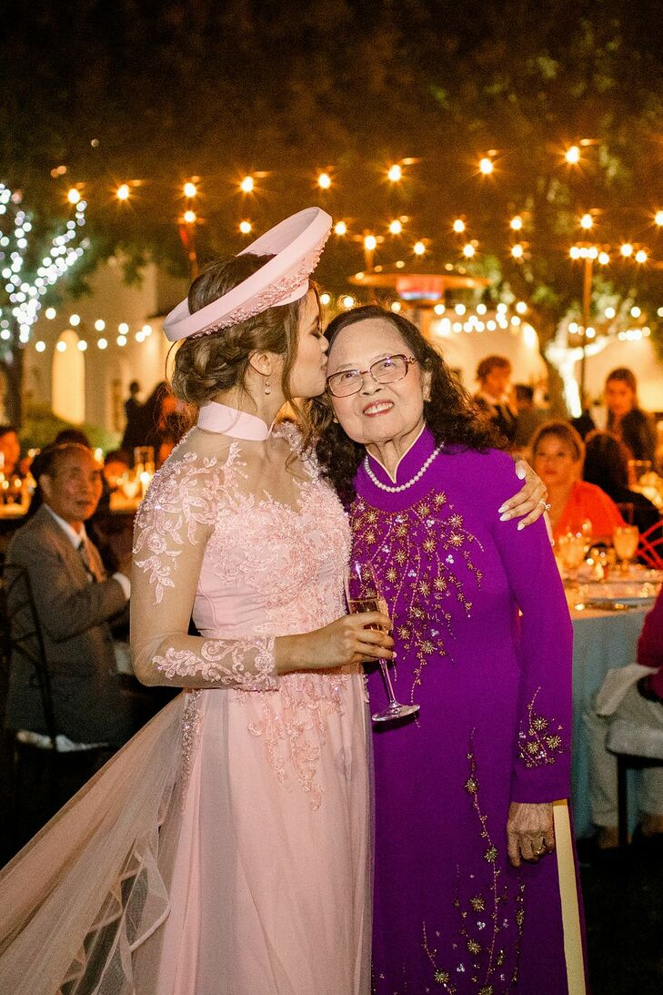 Bride in Traditional Vietnamese Attire at Wente Winery Wedding