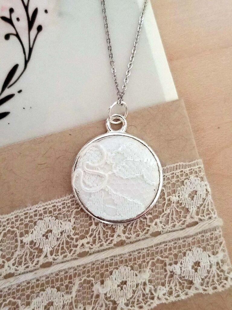 lace pendant necklace