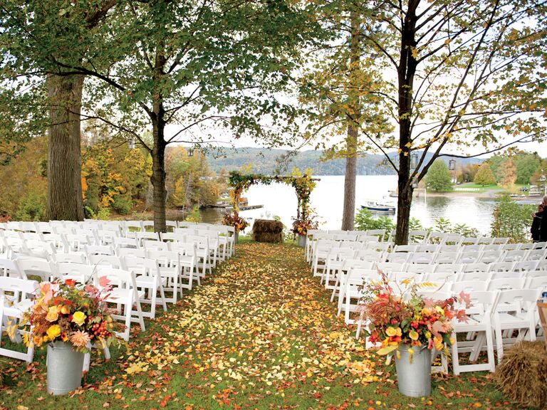 Fall wedding pitfalls fall wedding planning fall wedding mistakes outdoor fall wedding ceremony junglespirit Gallery