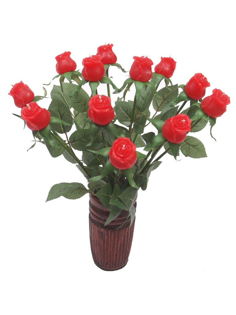 Wax roses 16th anniversary gift