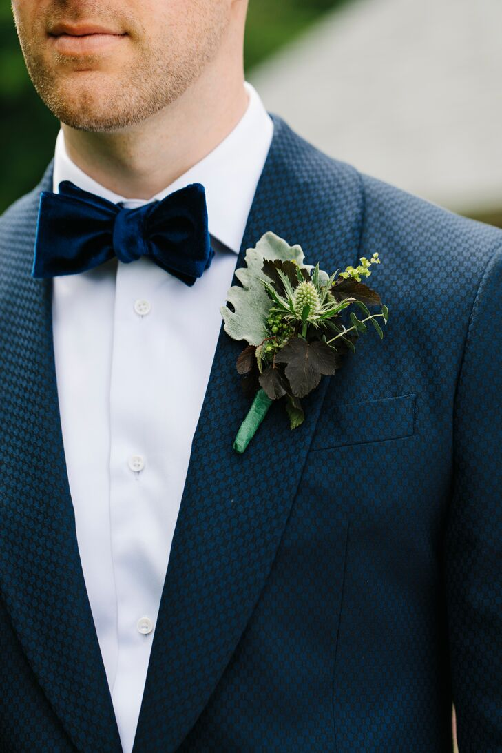 Thistle, Eucalyptus and Lamb's Ear Boutonniere