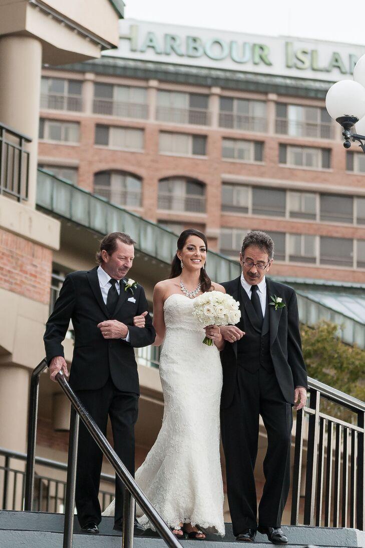 Classic White Lace Martina Liana Wedding Dress