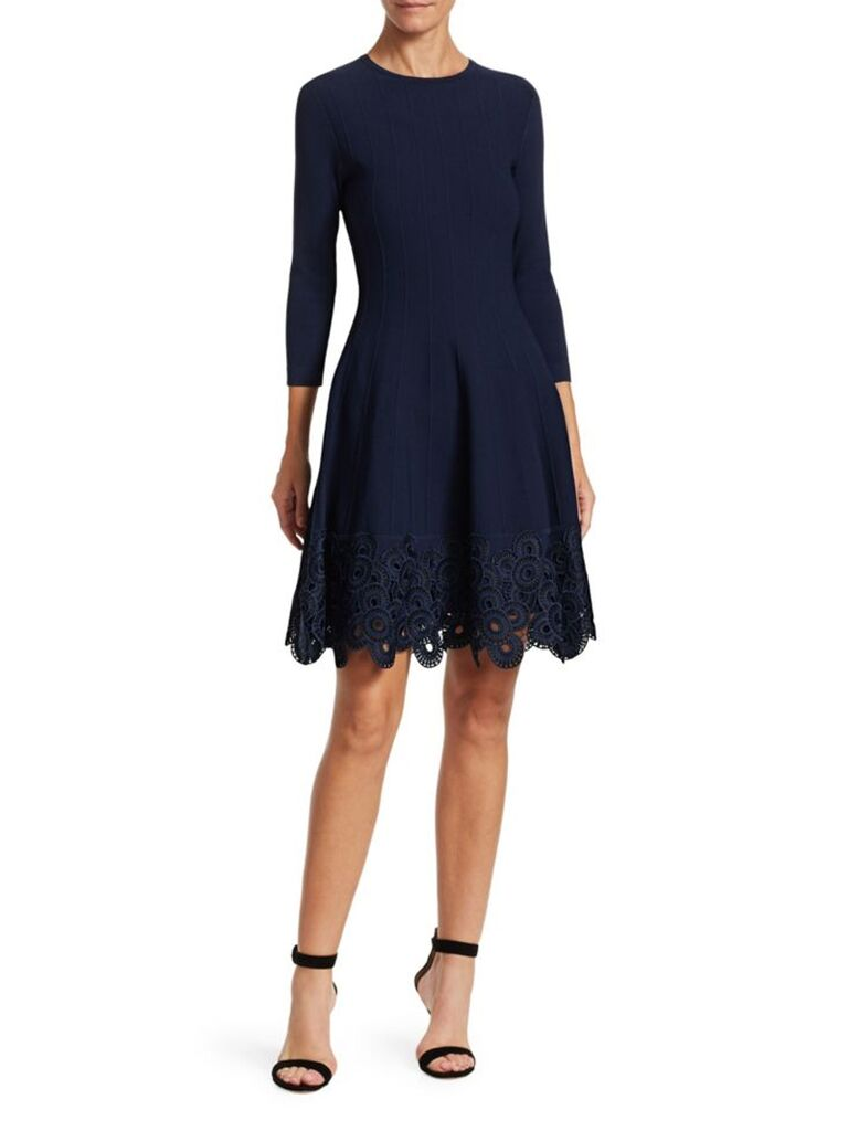 Lela Rose Fall Wedding Guest Dress