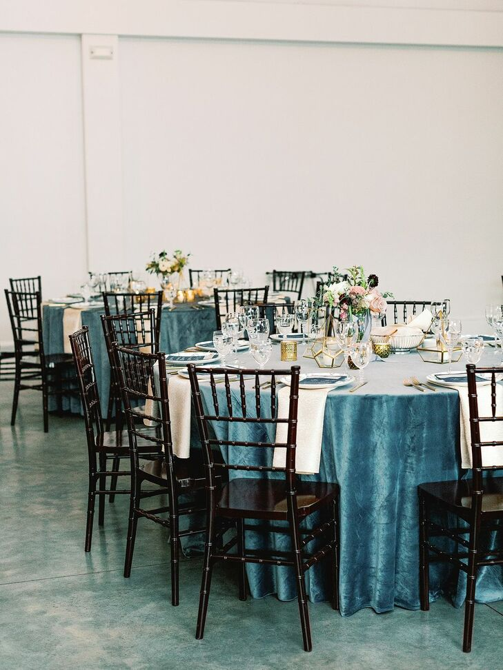 Jewel-Toned Linens at North Carolina Wedding at The Merrimon-Wynne House