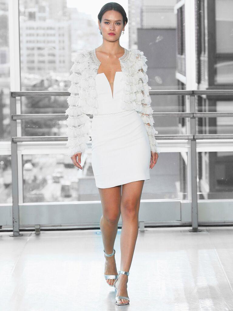 Justin Alexander Signature Wedding Dresses mini plunging dress