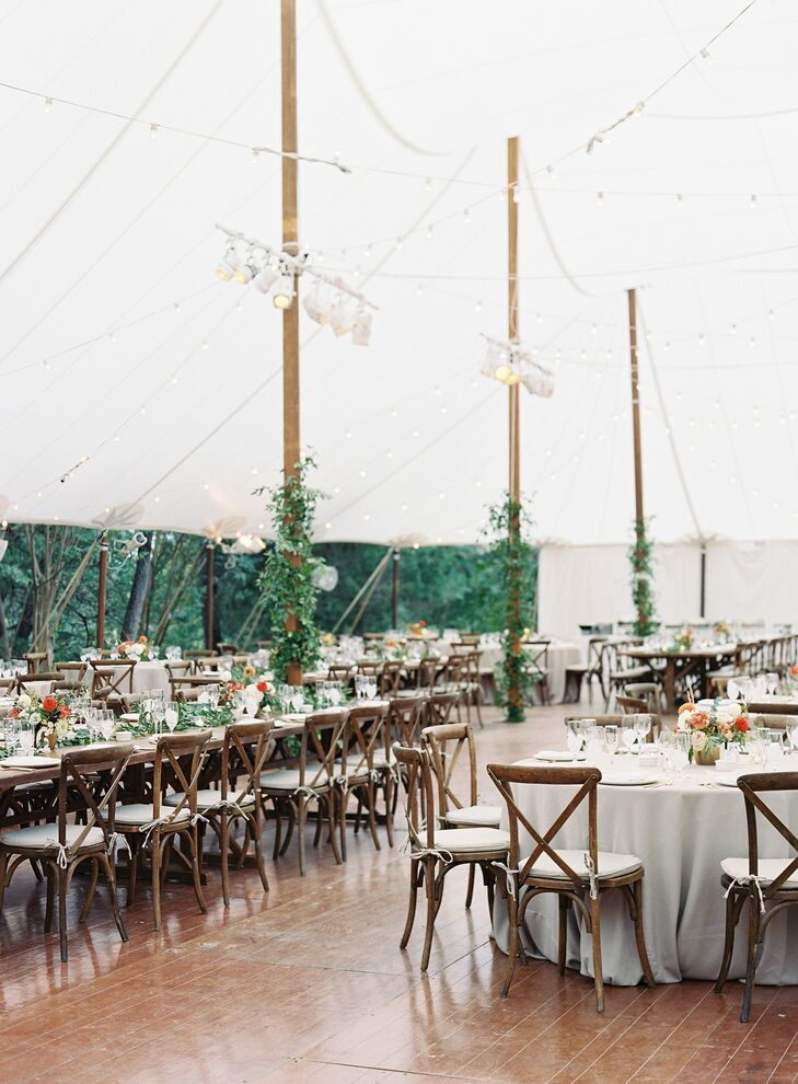 Tented Rustic Reception at The Clifton Inn in Charlottesville, Virginia