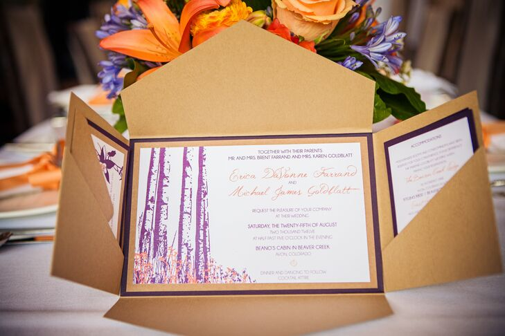 Outdoor Themed Wedding Invitations