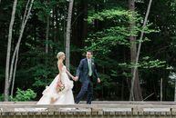 A whimsical, woodland wedding set in New Hampshire's Lakes Region was the perfect fit for Molly Caldwell (28 and a nanny) and Jim Czarnecki's (32 and