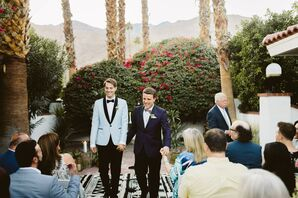 Same-Sex Wedding Ceremony at Villa Royale in Palm Springs, California