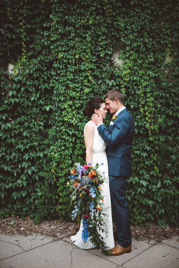 For their Minneapolis wedding, Shorey Tuetken (34 and an event coordinator at Rocket Science Weddings and Events) and Phil Baebenroth (30 and a deputy